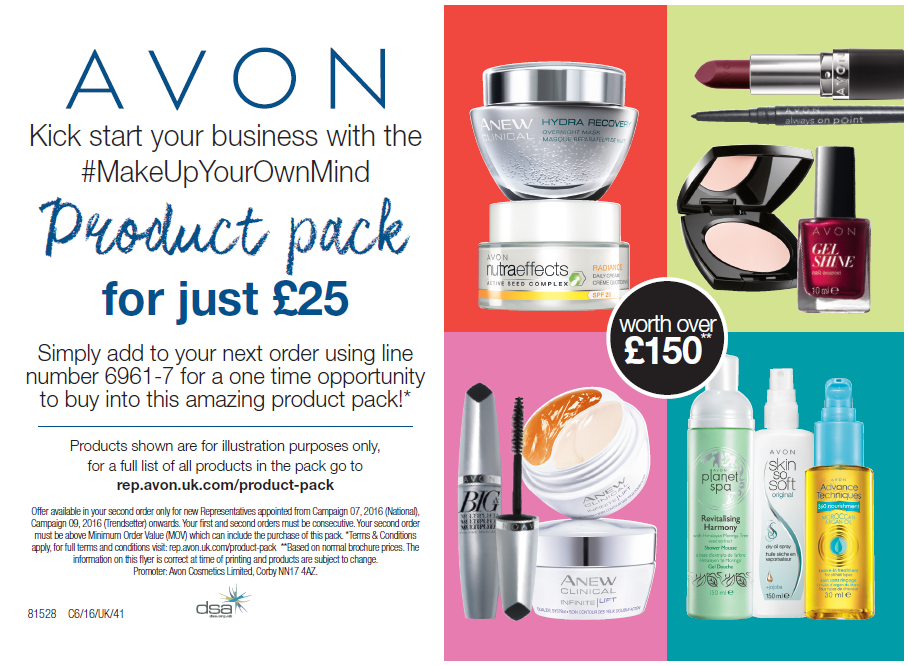 Avon New Representative Product Pack