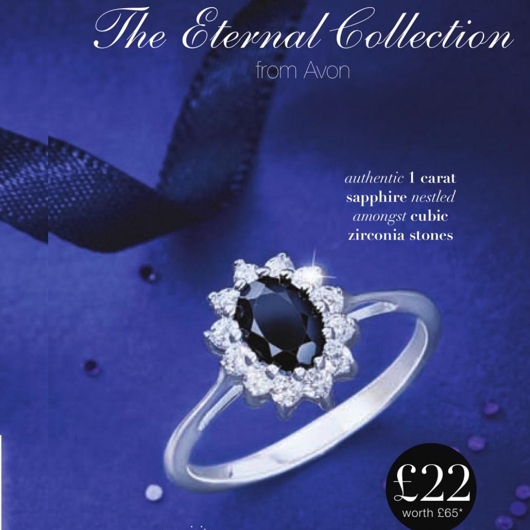 Avon Valentines Day Sapphire Ring