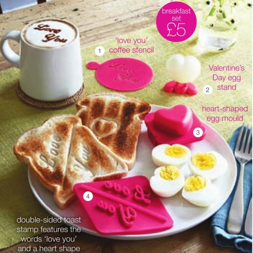 Avon Valentines Day Breakfast Set