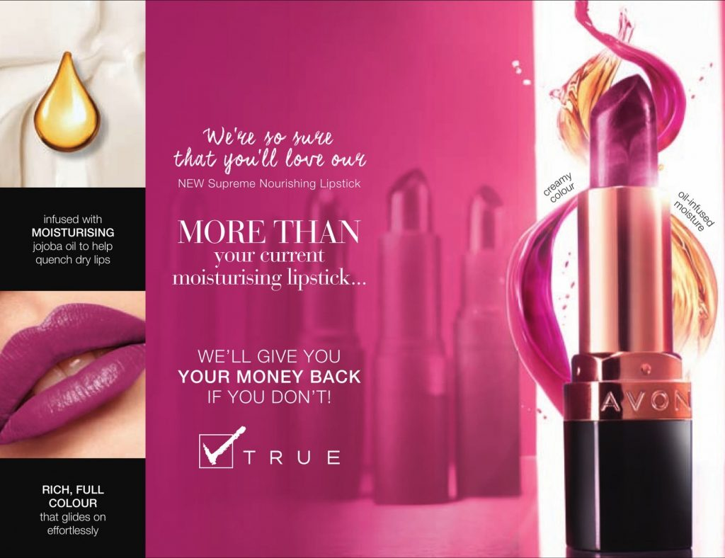 Avon True Colour Supreme Nourishing Lipstick Money Back Guarentee