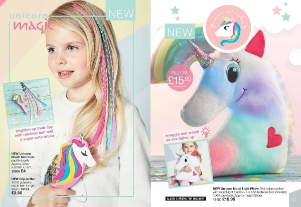 Avon unicorn gifts brochure 17