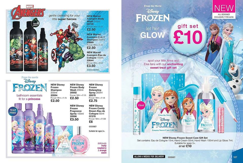 Avon Campaign 18 2018 UK Brochure Online - Frozen Gift Set