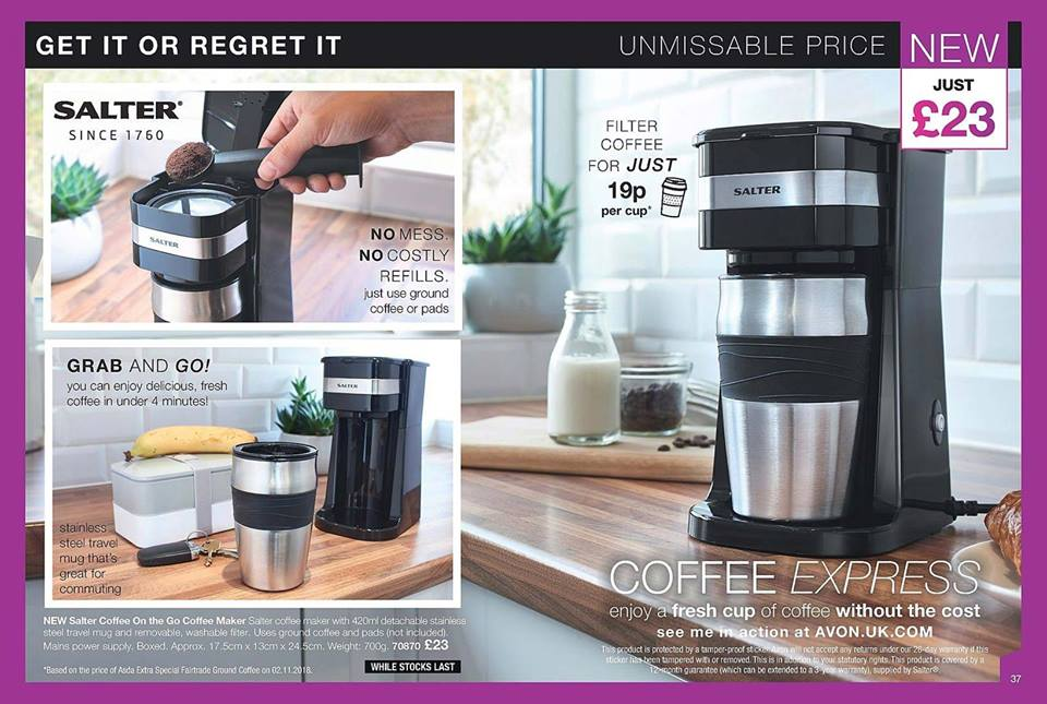 Avon Campaign 3 2019 UK Brochure Online - Salter coffee machine