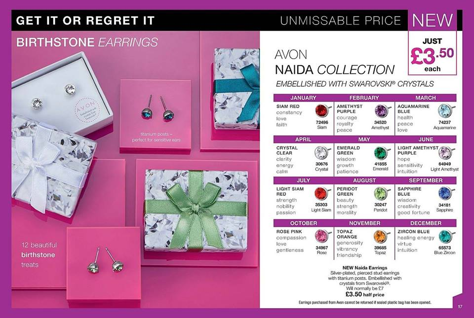 Avon Campaign 3 2019 UK Brochure Online - Naida swarvoski earrings
