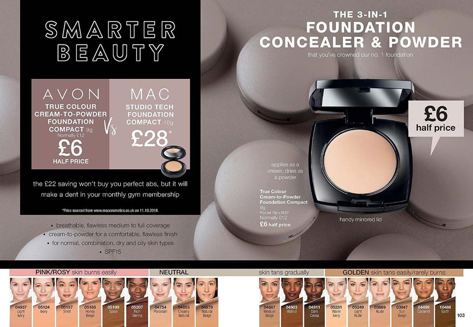 Avon Campaign 3 2019 UK Brochure Online - Avon cream to powder foundation