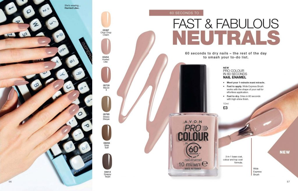 Avon Campaign 8 2019 UK Brochure Online - pro colour 60 seconds dry nail enamel