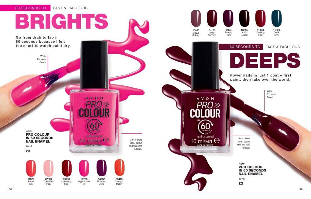 Avon Campaign 8 2019 UK Brochure Online - pro colour 60 seconds dry nail enamel