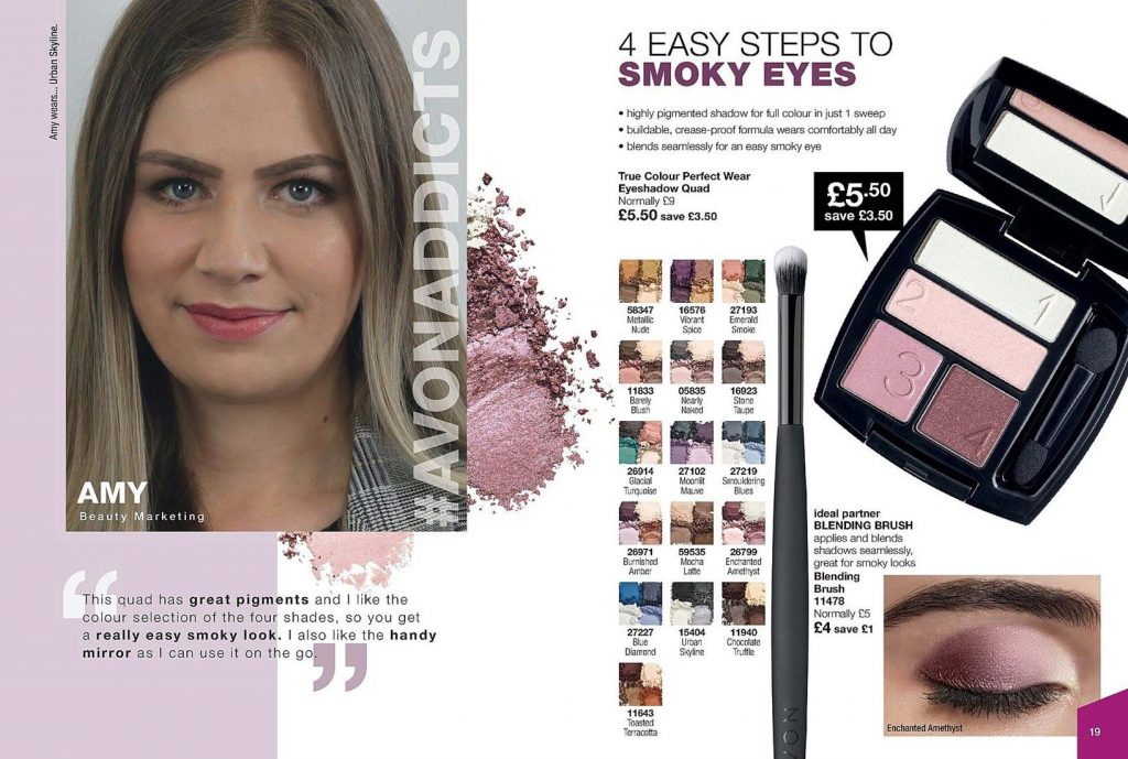 Avon Campaign 11 2019 UK Brochure Online - four steps to smoky eyes