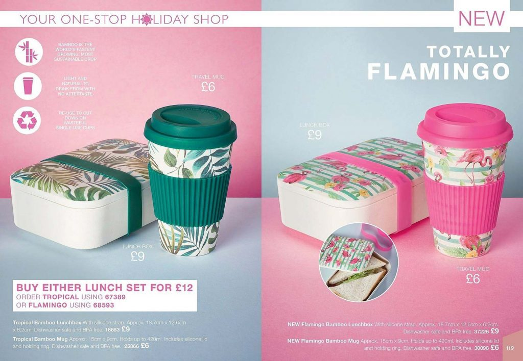 Avon Campaign 11 2019 UK Brochure Online - tropical lunch boxes as seen on Love Island