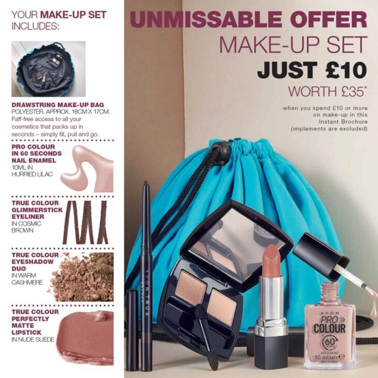 Avon Campaign 10 2019 UK Brochure Online - make-up set offer
