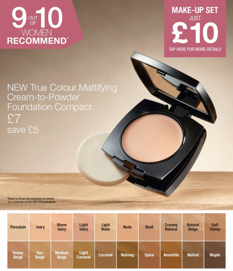 Avon Campaign 10 2019 UK Brochure Online - mattifying foundation