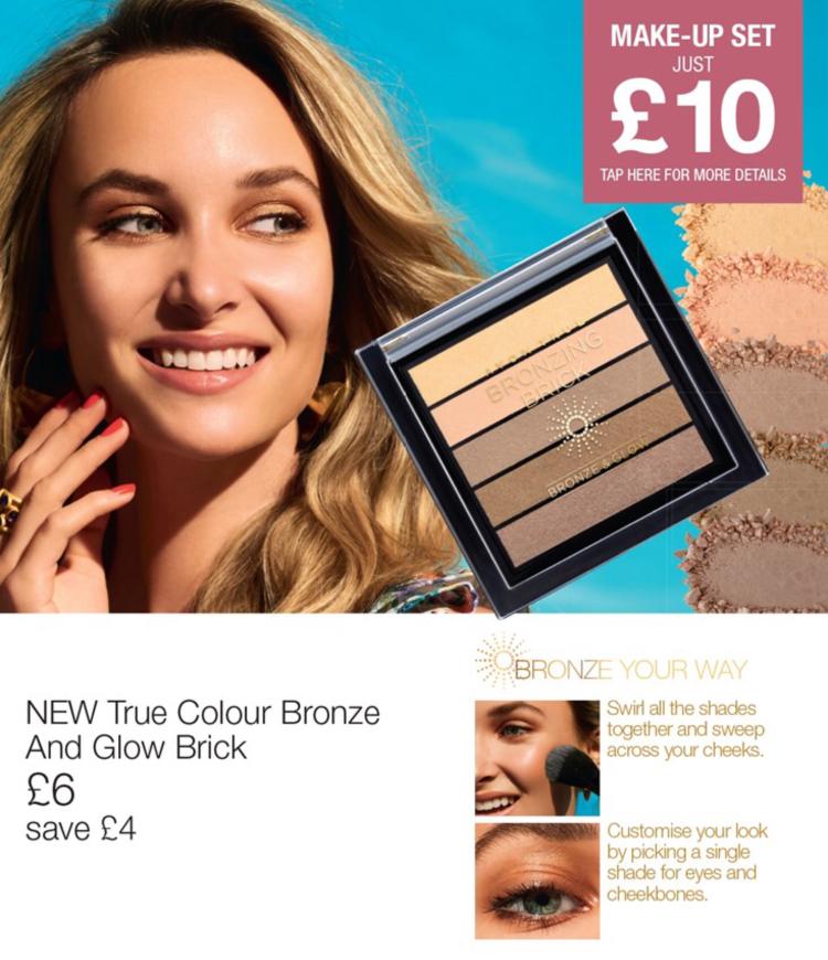 Avon Campaign 10 2019 UK Brochure Online - bronze and glow brick