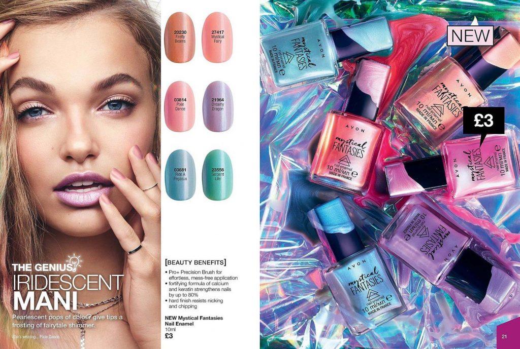Avon Campaign 8 2019 UK Brochure Online - nail enamel