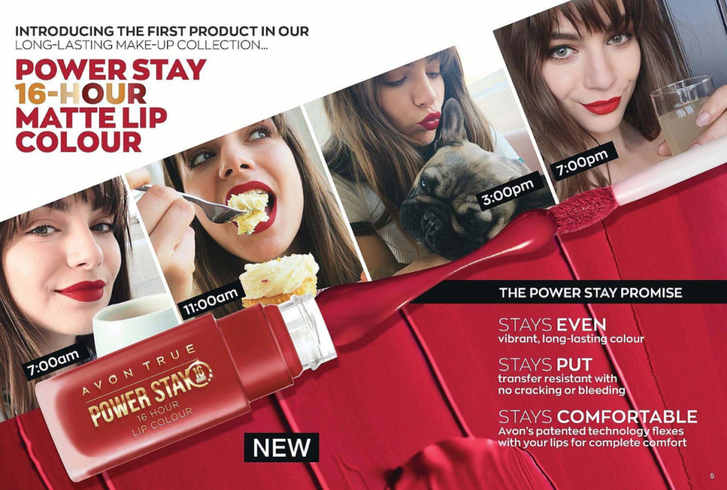 Avon Campaign 15 2019 UK Brochure Online - Power Stay Matte Lip Colour
