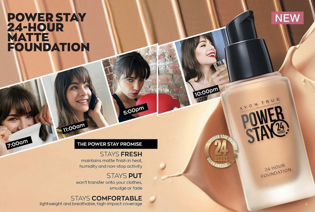 Avon Campaign 16 2019 UK Brochure Online - Power Stay 24-hour matte foundation
