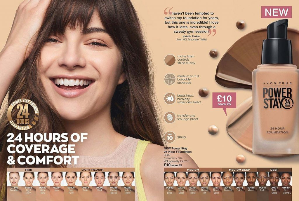 Avon Power Stay 24 hour matte foundation