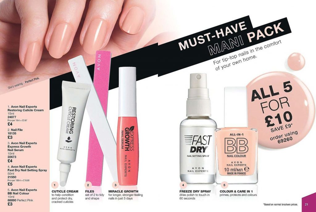 Avon Campaign 16 2019 UK Brochure Online - must have mani pack
