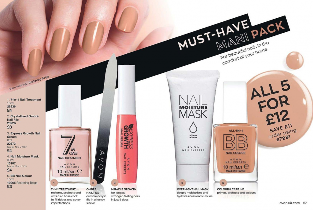 Avon Campaign 1 2020 UK Brochure Online - must have mani