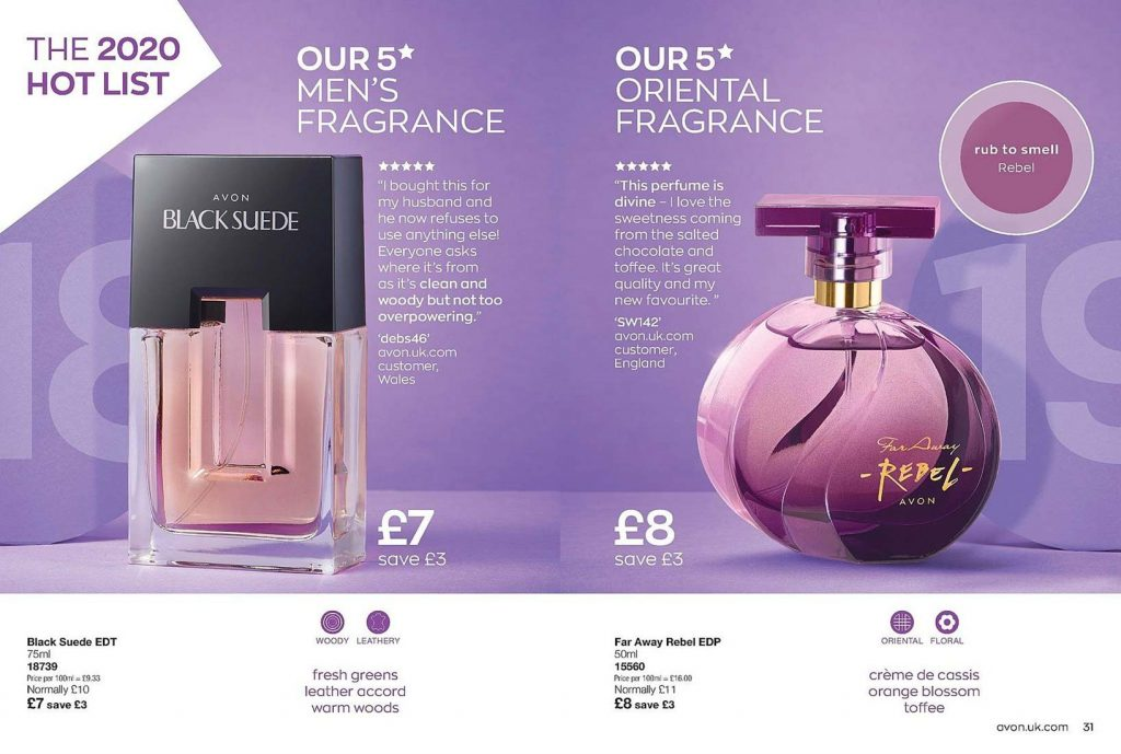 Avon Campaign 3 2020 UK Brochure Online - black suede and far away rebel