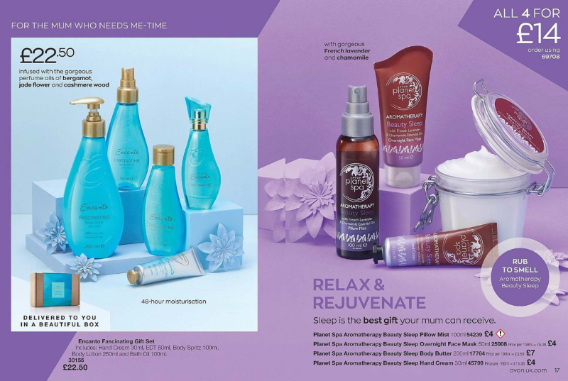 Avon Campaign 5 2020 UK Brochure Online - encanto and beauty sleep planet spa aromatherapy