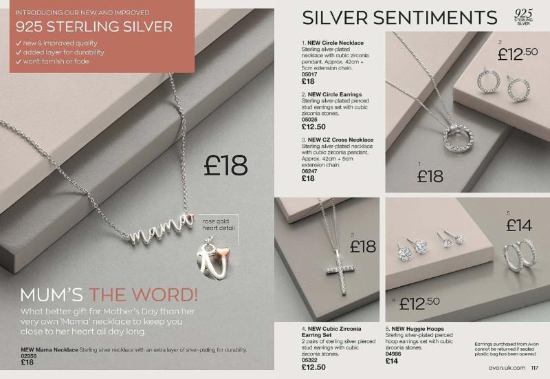 Avon 925 sterling silver jewellery
