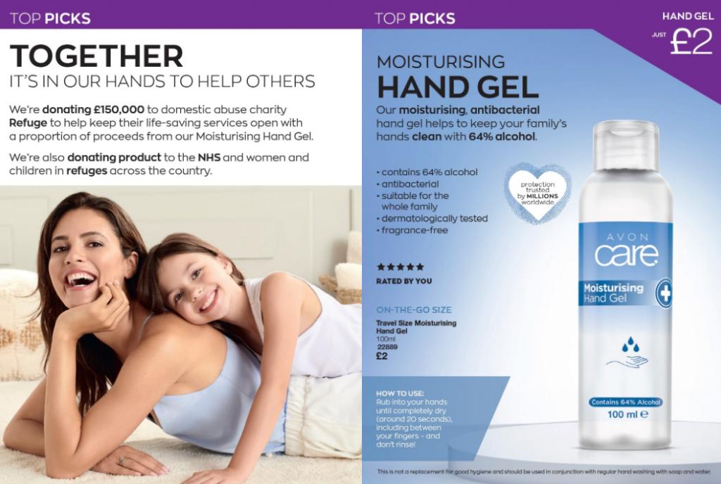Avon antibacterial hand gel - hand sanitiser