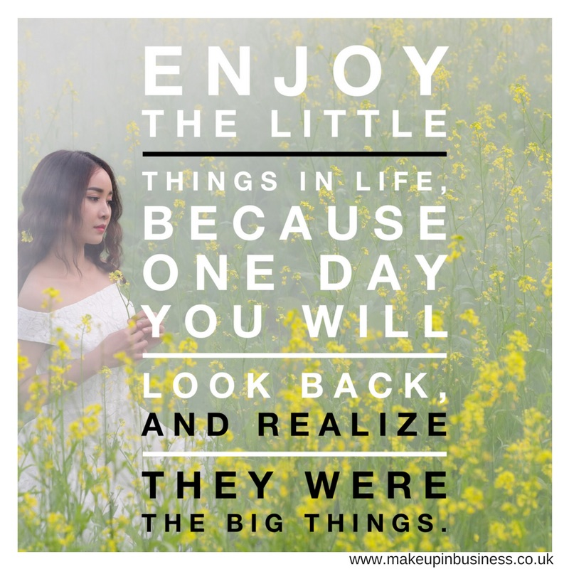 Enjoy the little things in life, because one day you will look back and realise they were the big things