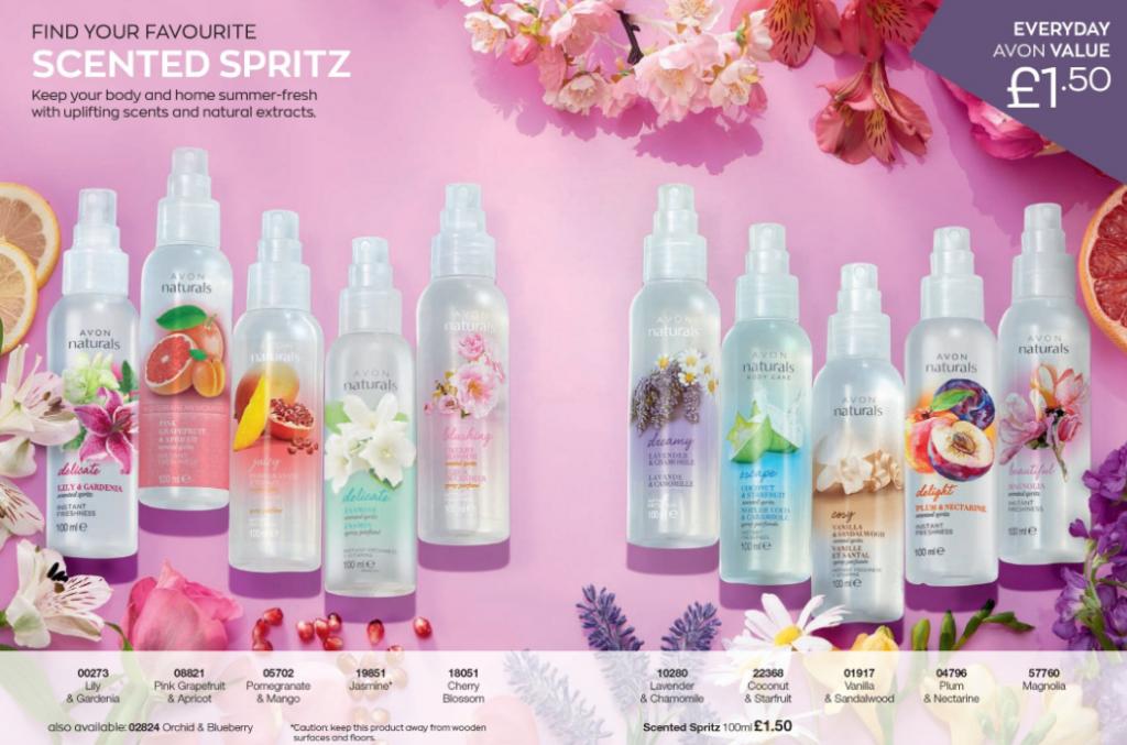 Avon Campaign 9 2020 UK Brochure Online - scented spritz