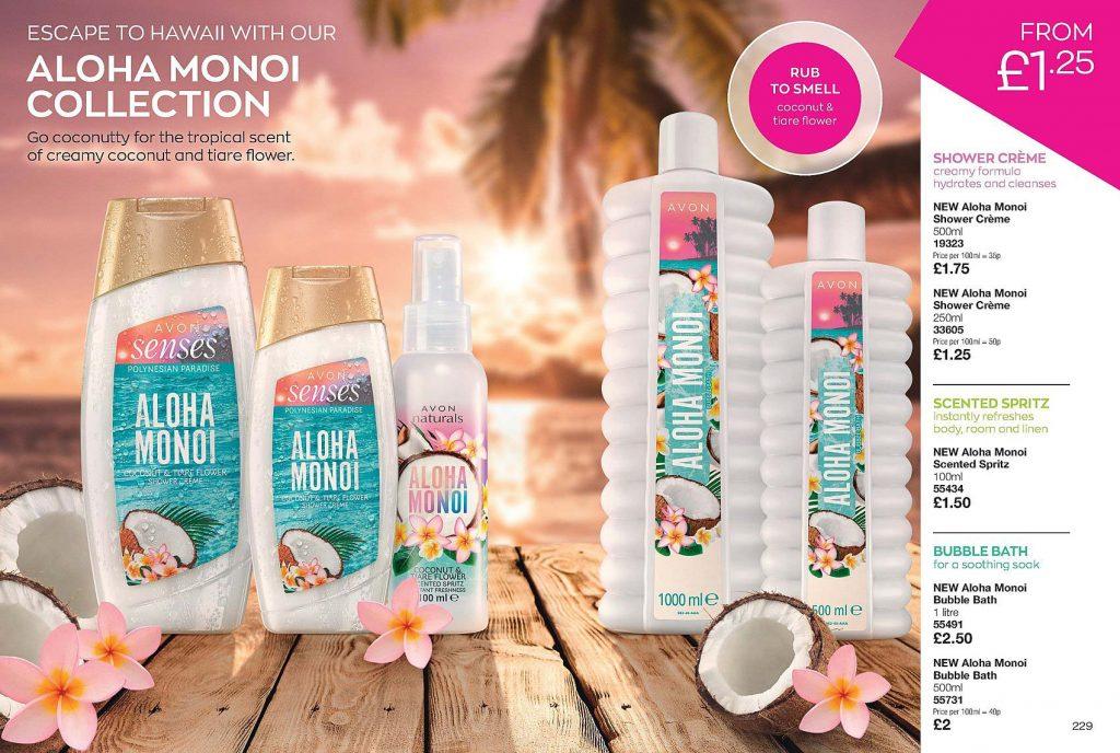 Avon Campaign 10 2020 UK Brochure Online - Aloha Monoi