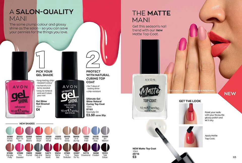 Avon Campaign 12 2020 UK Brochure Online - Gel Shine nail wear