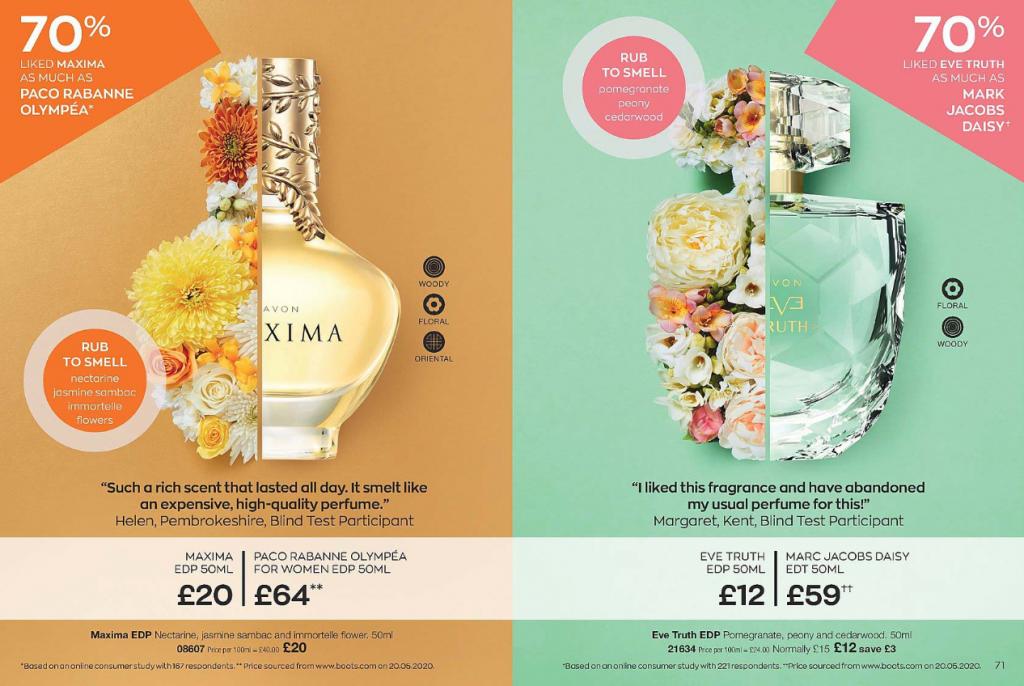 Avon Campaign 11 2020 UK Brochure Online - Eve Truth - Maxima perfume