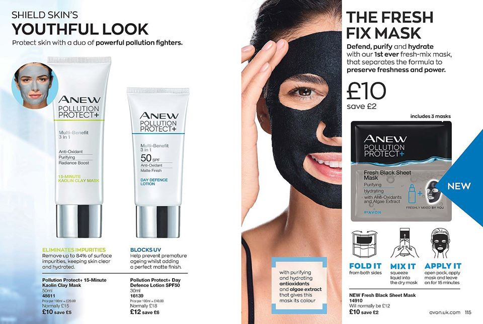 Avon Campaign 12 2020 UK Brochure Online - fresh fix face mask