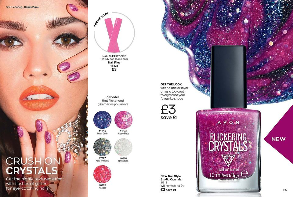 Avon Campaign 13 2020 UK Brochure Online - crystal nails