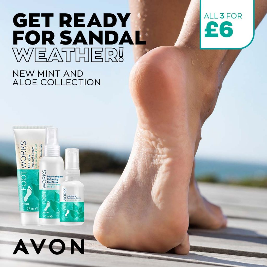 Avon Campaign 6 2021 UK Brochure Online - Footworks Mint and Aloe collection