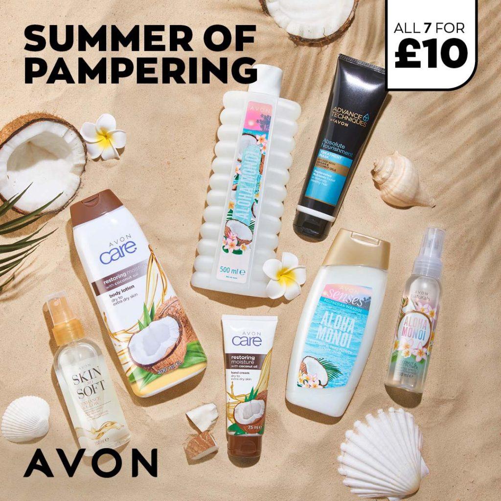 Avon Campaign 8 2021 UK Brochure Online - Summer of Pampering Pack
